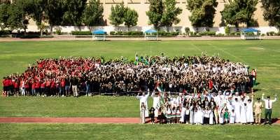 UAS GATHER FOR THE UAE FLAG RAISING CEREMONY